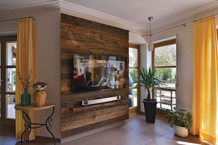 Wohnzimmer Wand Holz ~ Wohnzimmer tv design