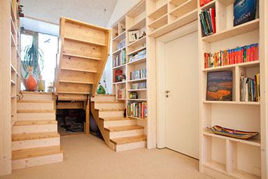 holztreppe gel nder stufen schreinerei in fulda. Black Bedroom Furniture Sets. Home Design Ideas